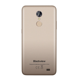 "Blackview A10 Smartphone MTK6580A Quad Core 5.0"" HD Screen 2GB RAM 16GB ROM Mobile Phone Rear Touch ID Android 7.0 3G Cellphone"