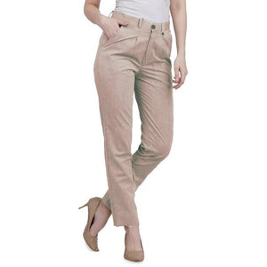 New 2021 Presenting Beautiful Pure Cotton Ladies Pant-Brown-Size-XL