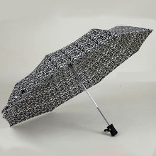 JESSE KAMM New arrive Gentles Ladies Fully-automatic Aluminium Fiberglass Strong Frame Three Folding compact big rain umbrella