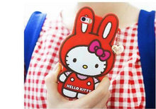Cartoon Hello Kitty Case For Funda iPhone 6 6S Case Luxury Silicone Capinha Cute Rabbit Coque For Capa Para iPhone 6 Plus Cases