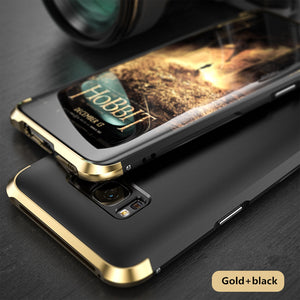 For Samsung Galaxy S8 Case Luxury 360 Full Protection 3in1 Metal + PC Hard Hybrid Slim Cover For Samsung Galaxy S8 Plus Shell