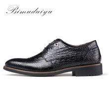 Retro Crocodile Pattern Leather Men's Formal Wear Shoes For Suits New England Dress Business Wedding Male Flat Shoes
