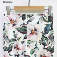Hermicci 2018 Summer Style Pencil Skirt Women High Waist Green Skirts Vintage Elegant Bodycon Floral Print Midi Skirt