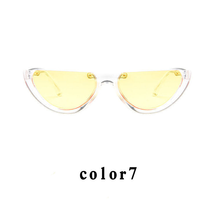 b9da6236bf ... Sunglasses Cool Trendy Half Frame Rimless Cat Eye Sunglasses Women 2018  Fashion Clear Brand Designer Sun ...