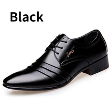 Top Quality Men oxfords Dress Shoes Fashion Lace-up Wedding  Black Shoes Mens Pointed Toe formal Office Shoes Big Size
