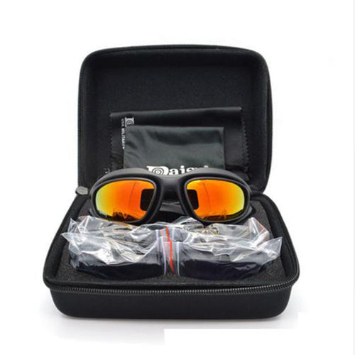 daisy c5 colour coating of high quality hd UV400 sunglasses Men's men in military tactical warfare Games 4 lens goggles Glasses