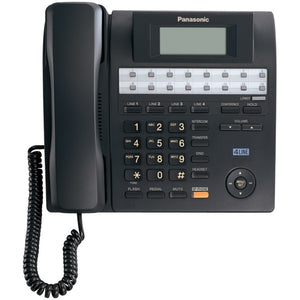"Panasonic KX-TS4100B 4-Line Integrated Corded Phone System with Hearing Aid Compatibility & Speakerphone (""PANKXTS4100B"")"