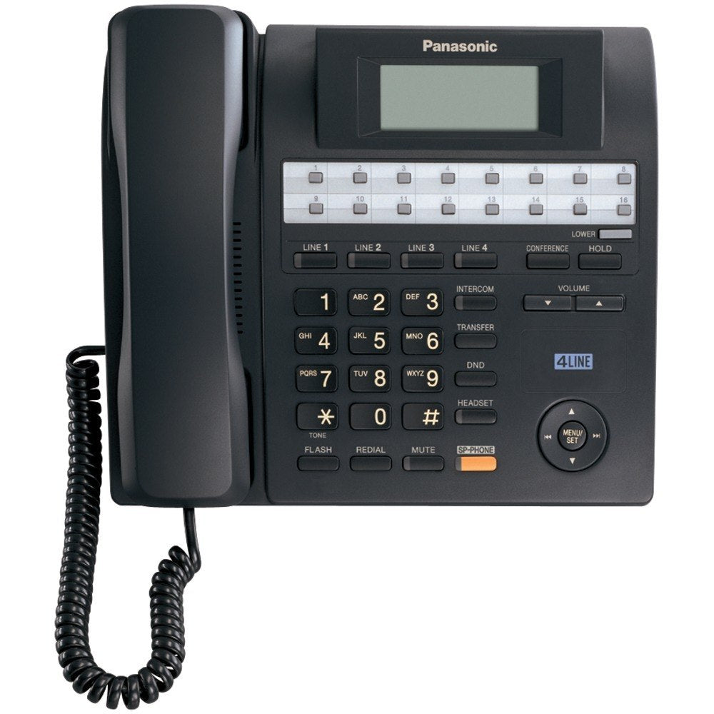 Panasonic KX-TS4100B 4-Line Integrated Corded Phone System with Hearing Aid Compatibility & Speakerphone (