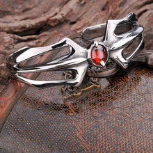 BEIER fashion Men Bracelet & Bangle With Red Stone Hight Quality Stainless Steel carving design Punk Jewelry BG1006