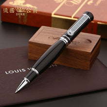 Luxury Gift Pen Promotion Germany Duke 558 Smooth Black and Silver Metal Rollerball Pen with Original Case 0.7mm Ballpoint Pens