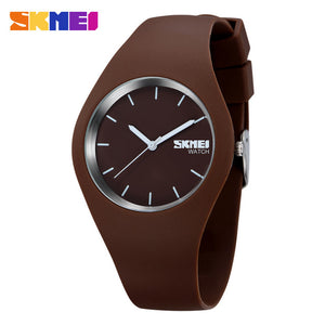 Watch Women SKMEI brand Fashion Casual quartz watch Men watches Montre Femme Reloj Mujer Silicone Waterproof Sport Wristwatches