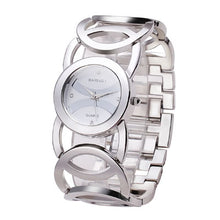 JW089 BAOSAILI  Brand Imitation Gold Plated Circles Strap Stainless Steel Back Shinning Women Watches Fashion Wrist Watch