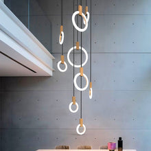Modern LED chandelier nordic living room pendant lamp bedroom fixtures stair lighting novelty illumination loft hanging lights