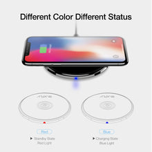 RAXFLY Qi Wireless Charger For Samsung S7 S6 Edge USB Charger For Samsung Galaxy S8 Portable Charging Stand For iPhone X 8 Plus