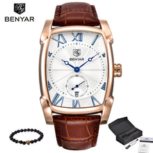 Benyar 2017 Luxury Brand Quartz Mens Watches Brand Men Military Leather Men Sports Watch Hour Date Waterproof Relogio Masculino