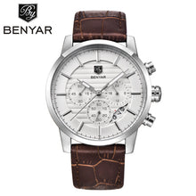 Montre Homme BENYAR Chronograph Men's Watch Luxury Brand Full Steel Quartz Black Watch Men Wrist Watch Man Clock Erkek Kol Saati