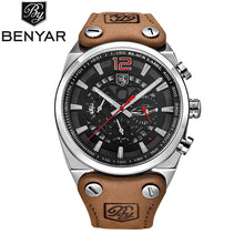 BENYAR Large dial design Chronograph Sport Mens Watches Fashion Brand Military waterproof Quartz Watch Clock Relogio Masculino