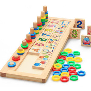 BOHS Children Wooden Montessori Materials Learning To Count Numbers Matching Early Education Teaching Math Toys