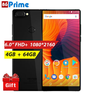 Vernee Mix 2 Mobile Phone 4G Phablet 6.0 inch 18:9 Android 7.0 Phone 4GB 64GB Smartphone 13MP MTK6757 Octa Core 2.5GHz Cellphone