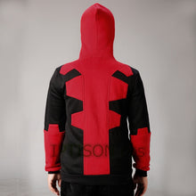2017 Deadpool Hoodie Marvel Hooded Men Sweatshirt Zipper Outerwear Jacket 3D Anime Characters Hoodies Deadpool Cosplay Costume