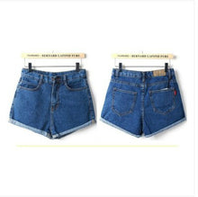 2017 New Summer Shorts High Waist Denim Shorts Vintage Black Jeans Shorts Women Slim Button Sexy Shorts Feminino Plus Size 26-32