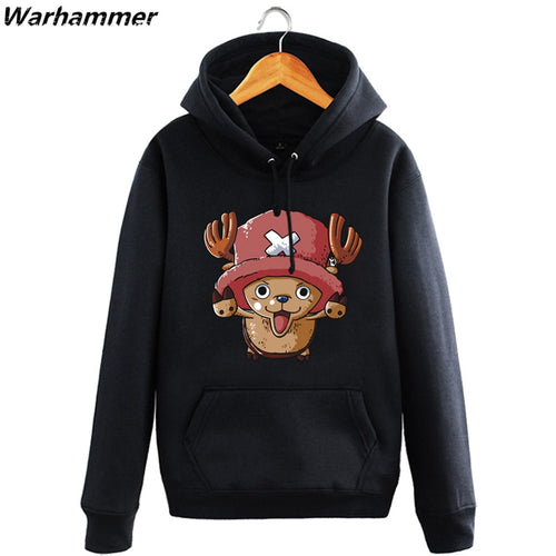 2017 Stylish One Piece Hoodies Men Womens Law Luffy Chopper Fans Printed Hooded Pullover Fleece Cotton Casual Sweat Homme Jacket