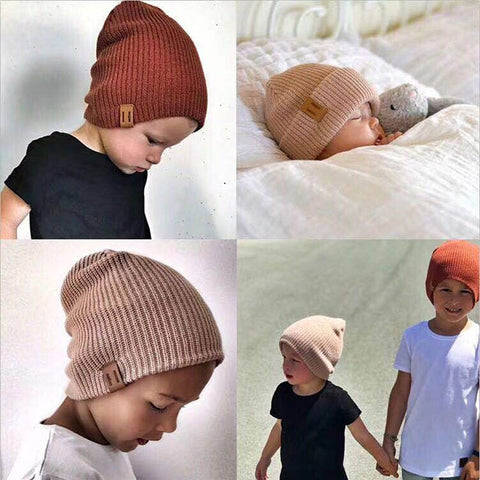 8d282a065fd 2018 Arrival Cute Kid Babies Beanies Hats Baby Crochet Knit Solid Color Hat  Daddy and Me Boy Girls Matching Warm Winter Hat Caps - OnshopDeal.com