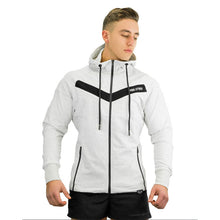 2018 Autumn Winter Bodybuilding New Men Long Sleeve Hoodies Sporting Hooded Sweatshirt Casual Zipper Gyms Fitness Jacket Outwear