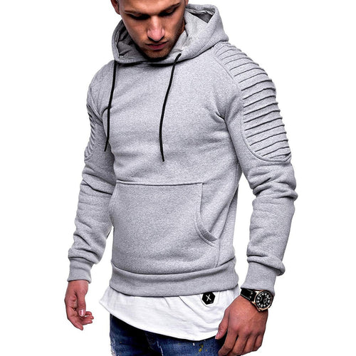 2018 Autumn Winter Hoody Plus Size Men Hoodies Fashion Solid Color Hooded Sweatshirt Top Jasket Male Hip Hop Pullover Streetwear
