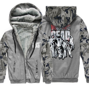 2018 New Arrival Hot Warm Jackets Men The Walking Dead Print Streetwear Thicken Coat Fleece Brand Clothing Tracksuits Hoodies