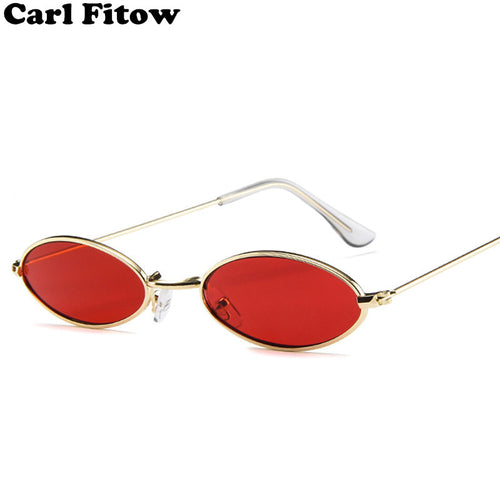 New Brand Designer Vintage Oval Sunglasses Women/Men Retro Clear Lens Eyewear Sun Glasses For Female UV400