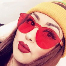 2018 Summer Women Rimless Sunglasses Transparent Shades Sun Glasses Female Cool Candy Color UV400 Eyewear Oculos De Sol