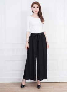 2018 summer pants cotton wide legs skirts pants dance leisure female trousers straight dance pants loose wide-legged pants