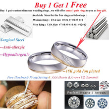 2019 custom Alliances wedding band couple rings set for men and women titanium jewelry anniversary promise rings pair