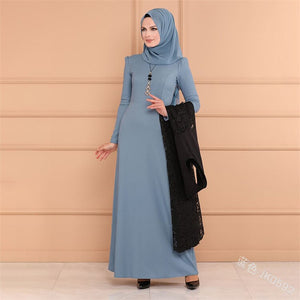 2019 new arrival elegent fashion style summer and autumn muslim women plus size long abaya S-5XL