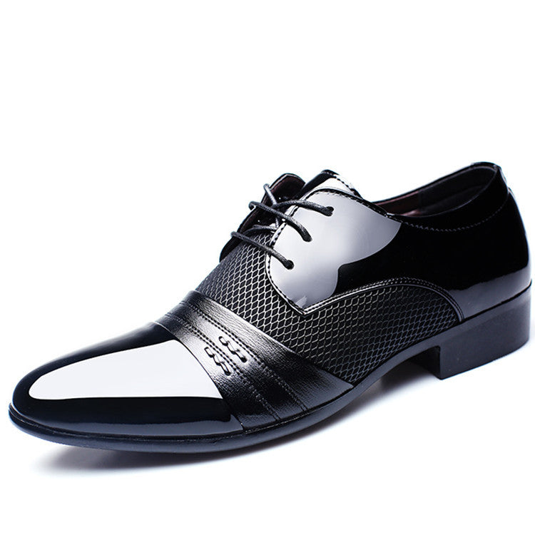 Men Dress Shoes Plus Size 38-47 Men Business Flat Shoes Black Brown Breathable Low Top Men Formal Office Shoes