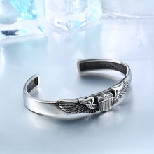 Beier stainless steel bracelet  Vintage Opening Wings badge  Fashion Bangle Jewelry BRG-007