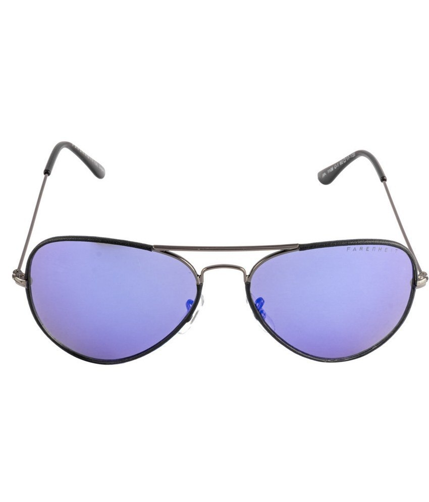 Farenheit Black-Gray Unisex Aviator Sunglasses