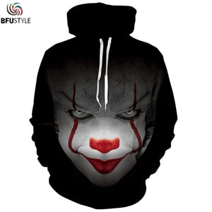 Pennywise 3D Hoodie Sweatshirt Men Women Long Sleeve Autumn Winter Hoody Tops Sudadera Hombre Casual Brand Sportswear Tracksuit