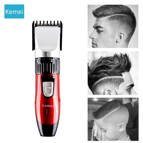 Kemei Electric Hair trimmer clipper hair cutter Beard trimmer Styling tools hair cutting machine Hair trimer rechargeable   5