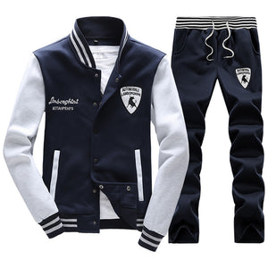 Spring Autumn Men'S Fashion Sportswear Sporting  Men Clothes Track  Tracksuits Male Sweatshirts Men Plus Size Men Set