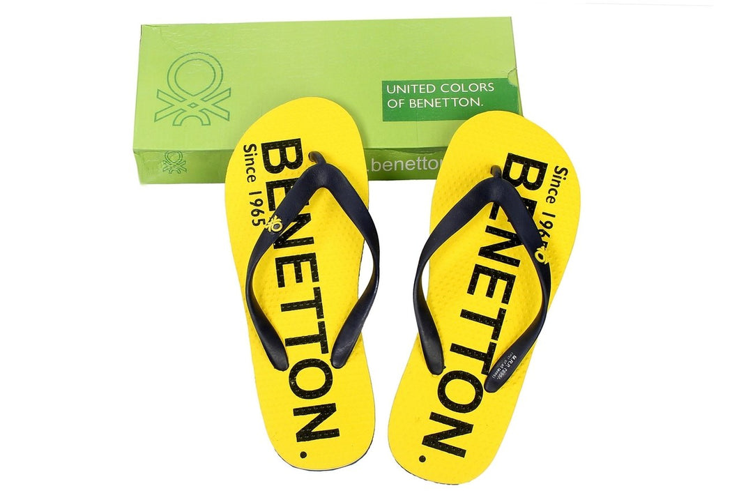 United Colors Of Benetton Yellow slippers (Size 8-9)