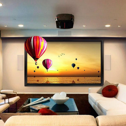 108-inch Diag. 16:9 4K Ultra HD Ready HDTV Fixed Frame Home Theater projection projector Screen with cinema white