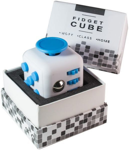 Fidget Cube (WHITE & BLUE)