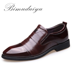 Imported Luxury brand New Men Dress Slip-on Black/Brown Oxford Shoes Genuine Leather Business Casual Breathable Shoes Flats