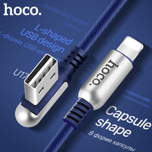 HOCO 2.4A Zinc Alloy 90 Degree USB Cable for Apple Lightning iPhone iPad OTG Fast Charging Original Charger Wire Data Sync