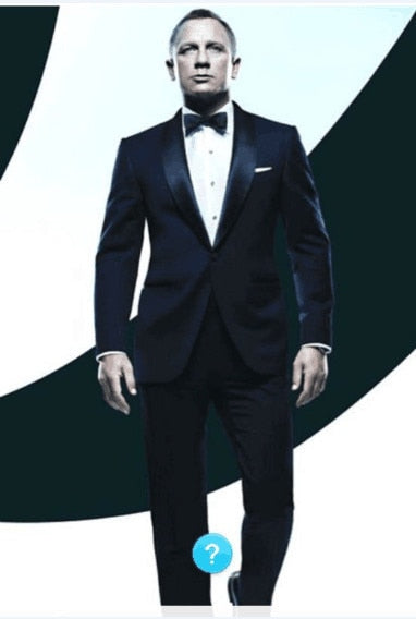 2018 Custom Made Dark Blue Tuxedos Inspired By Suit Worn In