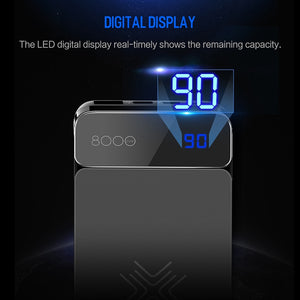 ROCK 8000mah Wireless Charger Power Bank For iPhone X 8 plus, Portable Wireless Charging External Battery PowerBank