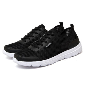 Men Shoes 2018 Summer Sneakers Breathable Casual Shoes Fashion Comfortable Lace up Men Sneakers Mesh Flats Shoes Plus Size 38-48