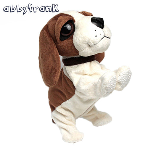 Abbyfrank Electronic Dogs Pet Sound Control Interactive Robot Dog Bark Stand Walk Electronic For Baby Toy Gift Interactive